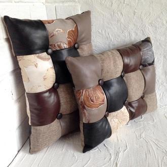 "Подушка ""Плитка шоколада"" для дивана/кровати"