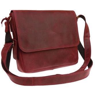 Кожаная женская сумка с гравировкой «Wave» M размер 8 цветов