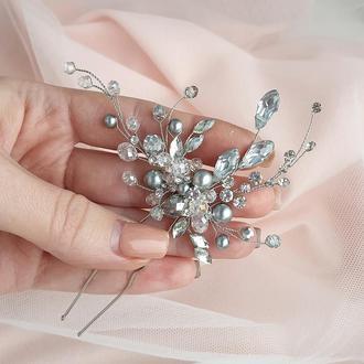 Свадебное украшение для волос, веточка в прическу, украшения в прическу, заколка, прикраса в зачіску