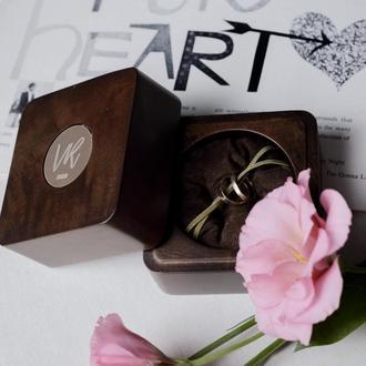 Шкатулка для колец с индивидуальной гравировкой