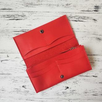 Кошелёк Stedley Жасмин кожаный красный