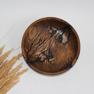 тарілочка з дерева