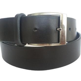Чёрный кожаный ремень, мужской ремень, ремень для мужчин, чёрный ремень, кожаный ремень.