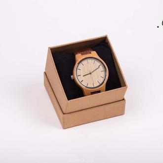 Бамбуковые и кожаные Часы, Мужские / Женские часы, натуральный бамбук деревянные и экологически чист