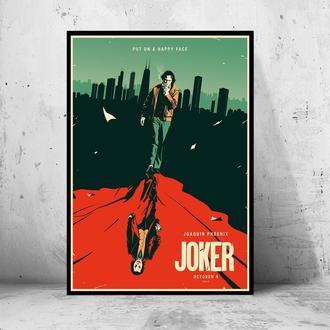 """Постер на ПВХ 3 мм. в раме """"Joker"""" 2019 (Джокер: Хоакин Феникс/Joaquin Phoenix) #2"""