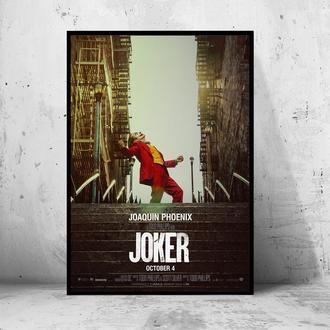 """Постер на ПВХ 3 мм. в раме """"Joker"""" 2019 (Джокер: Хоакин Феникс/Joaquin Phoenix) #5"""