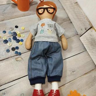 Текстильная игровая кукла игрушка