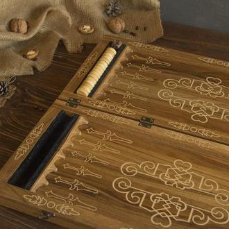 Дорогие Деревянные Качественные Нарды С Персонализацией Подарок На Юбилей Мужу Отцу Шефу Босу Парню