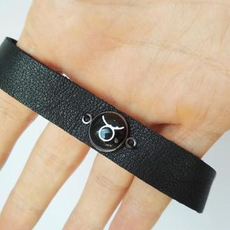 "Кожаный браслет ""Tsurus"" (Телец)"