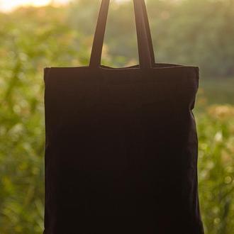 Шоппер | Экосумка | Сумка для покупок | Торба | Эко сумка черная
