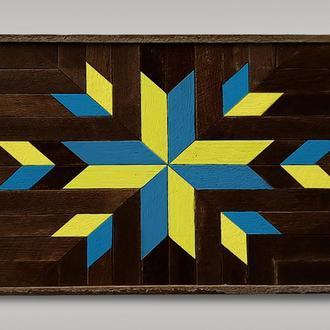"""мозаика из дерева """"Украина в сердце"""""""
