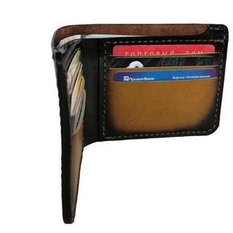 Бумажник кожаный градиент светло-коричневый рас10 (12 цветов)