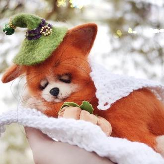 Игрушка лис, валяная игрушка, Хелоуина декор