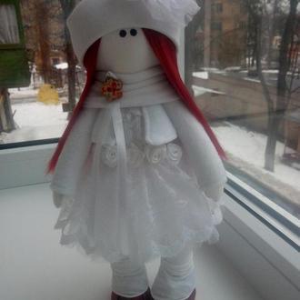 Интерьерная куколка Белая малышка
