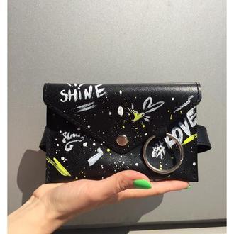 Поясная сумочка с принтом
