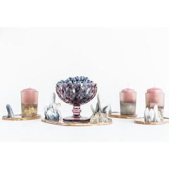 Сет с кристаллами для сервировки обеденного стола