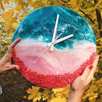 Coral Island Resin Art настенные часы купить Украина корпоративный подарок