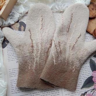 Варіжки рукавиці перчатки шерсть