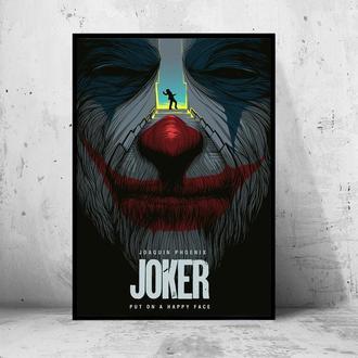 """Постер на ПВХ 3 мм. в раме """"Joker"""" 2019 (Джокер: Хоакин Феникс / Joaquin Phoenix) #11"""
