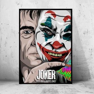 """Постер на ПВХ 3 мм. в раме """"Joker"""" 2019 (Джокер: Хоакин Феникс / Joaquin Phoenix) #14"""