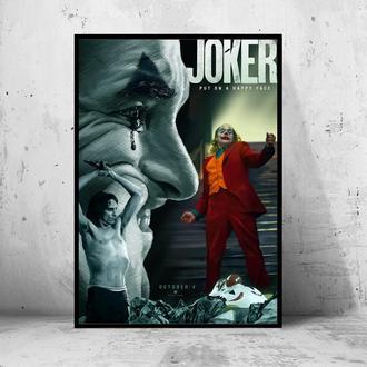 """Постер на ПВХ 3 мм. в раме """"Joker"""" 2019 (Джокер: Хоакин Феникс / Joaquin Phoenix) #17"""
