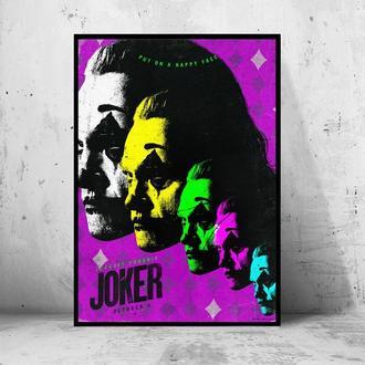 """Постер на ПВХ 3 мм. в раме """"Joker"""" 2019 (Джокер: Хоакин Феникс / Joaquin Phoenix) #19"""