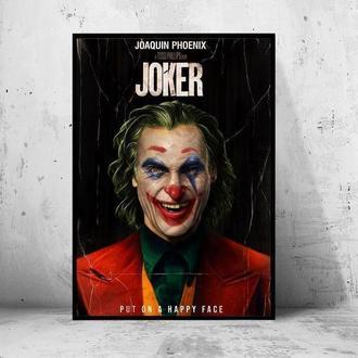 """Постер на ПВХ 3 мм. в раме """"Joker"""" 2019 (Джокер: Хоакин Феникс / Joaquin Phoenix) #20"""