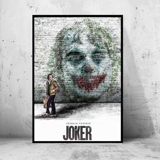 """Постер на ПВХ 3 мм. в раме """"Joker"""" 2019 (Джокер: Хоакин Феникс / Joaquin Phoenix) #21"""