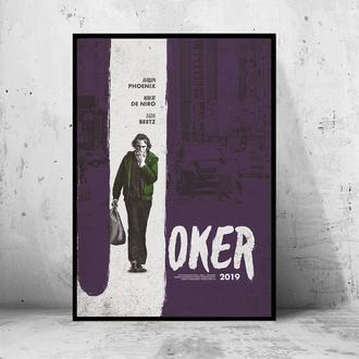 """Постер на ПВХ 3 мм. в раме """"Joker"""" 2019 (Джокер: Хоакин Феникс / Joaquin Phoenix) #22"""