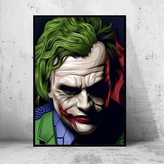 """Постер на ПВХ 3 мм. в раме """"Joker"""" (Джокер: Хит Леджер / Heath Ledger) #24"""