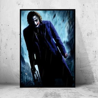 """Постер на ПВХ 3 мм. в раме """"Joker"""" (Джокер: Хит Леджер / Heath Ledger) #25"""