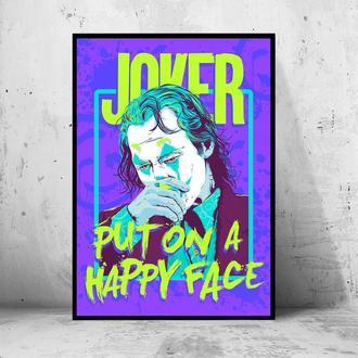 """Постер на ПВХ 3 мм. в раме """"Joker"""" 2019 (Джокер: Хоакин Феникс / Joaquin Phoenix) #23"""
