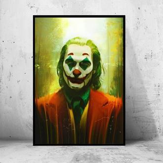 """Постер на ПВХ 3 мм. в раме """"Joker"""" 2019 (Джокер: Хоакин Феникс / Joaquin Phoenix) #25"""