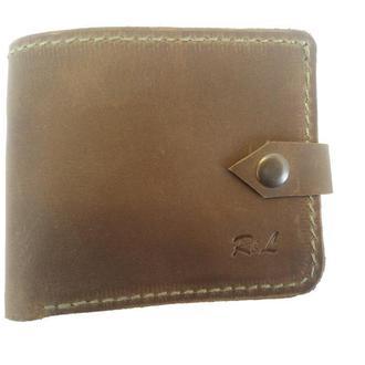 Массивный оливковый кожаный кошелёк х9 (10 цветов)