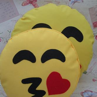 Подушка-смайлик Emoji Smile КОМПЛЕКТ (большая+маленькая) №13
