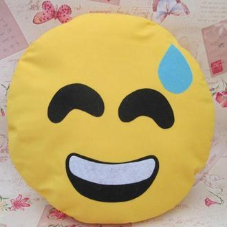 Большая подушка-смайлик Emoji #b-18 Smile