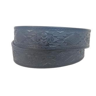 Кожаный ремень чёрный «Индийский» (12 цветов)