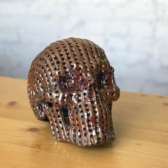 Керамический светильник череп