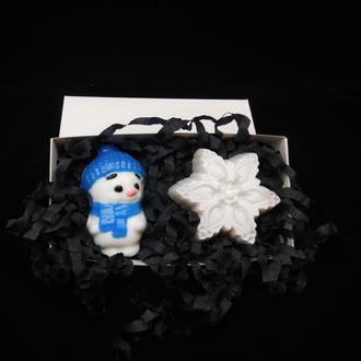 """Набір мила """"Сніговичок і сніжинка"""""""