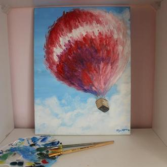Картина маслом Воздушный шар Интерьерная картина