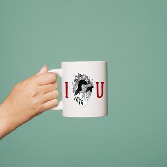 """Чашка с принтом """"I love you"""""""
