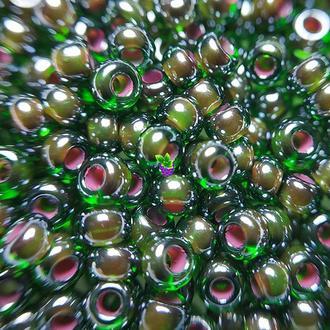 Бисер Preciosa Чехия, №51396, цвет зеленый темный, пакет  10 г