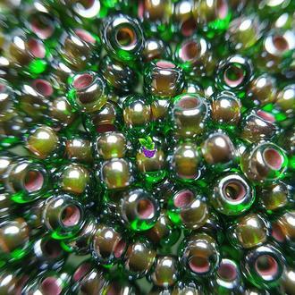 Бисер Preciosa Чехия, №51128, цвет тёмно-зелёный, пакет 1 г