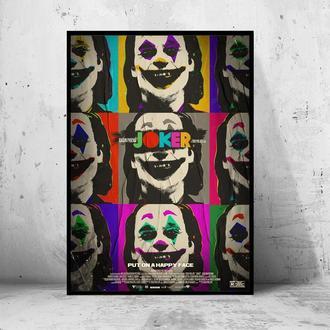 """Постер на ПВХ 3 мм. в раме """"Joker"""" 2019 (Джокер: Хоакин Феникс / Joaquin Phoenix) #26"""