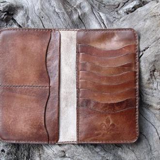 Кошельки портмоне,Мужские портмоне кожаные,Именные портмоне