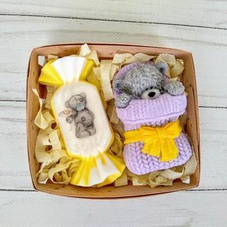 """Сувенирное мыло набор """"Мишка Тедди с конфеткой"""""""