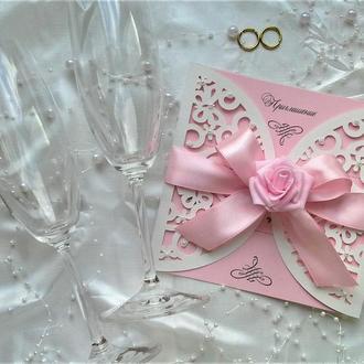 Пригласительные на свадьбу. Свадебное приглашение ручной работы.