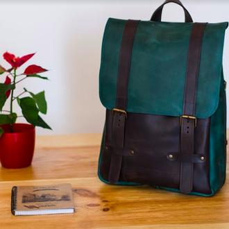 Стильный городской рюкзак для парня, рюкзак унисекс из натуральной кожи
