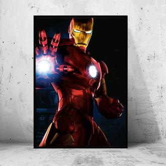 """Постер на ПВХ 3 мм. в раме """"Iron Man"""" (Железный Человек / Тони Старк / Tony Stark) #7"""
