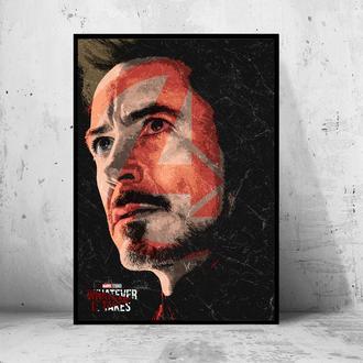 """Постер на ПВХ 3 мм. в раме """"Iron Man"""" (Железный Человек / Тони Старк / Tony Stark) #9"""